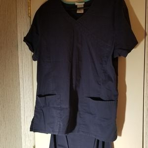 Navy Scrub Set